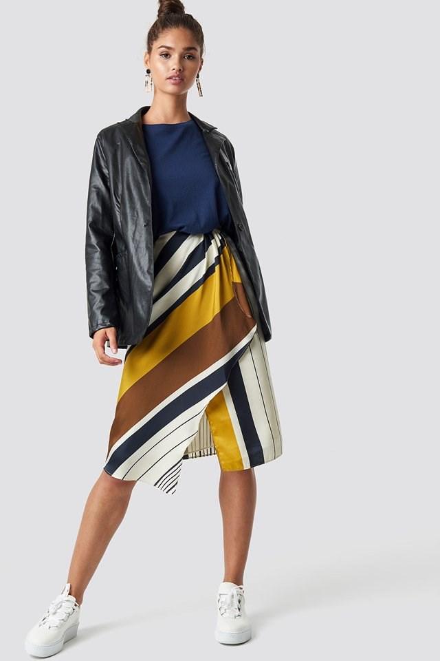 Mandi Skirt with PU Blazer