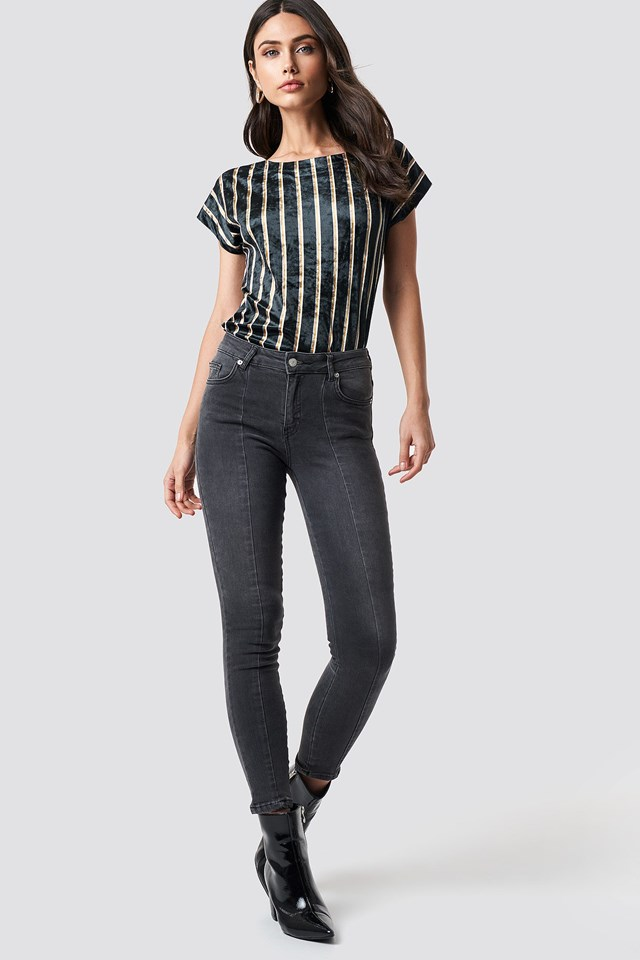 Stripe and Denim Look