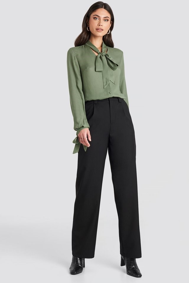 Tied Sleeve Blouse Outfit.