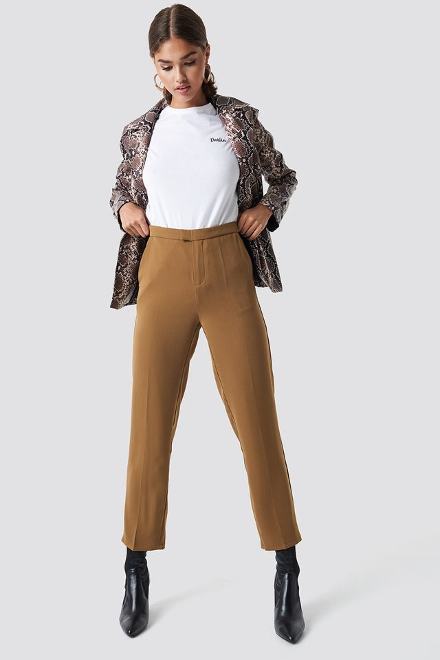 Straight Pants with Snake Jacket