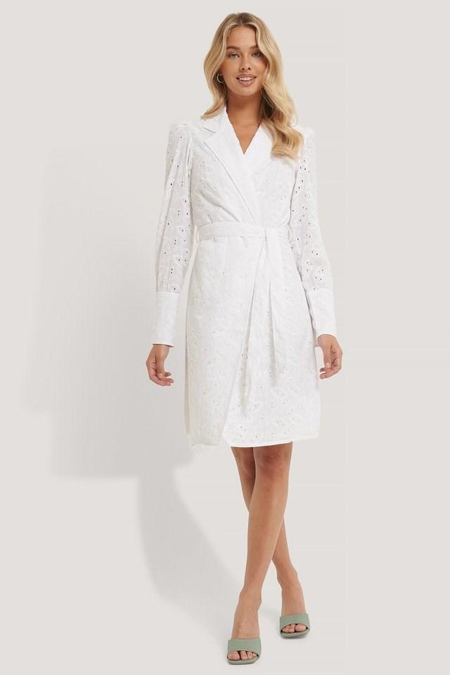 Anglaise Blazer Dress Outfit.
