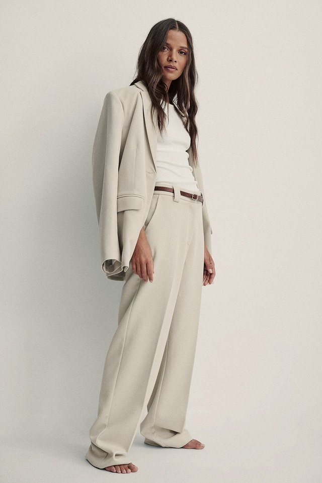 Twill Suit Pants Outfit.