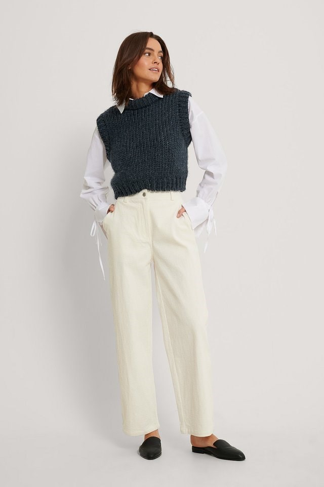 Offwhite Corduroy Trousers