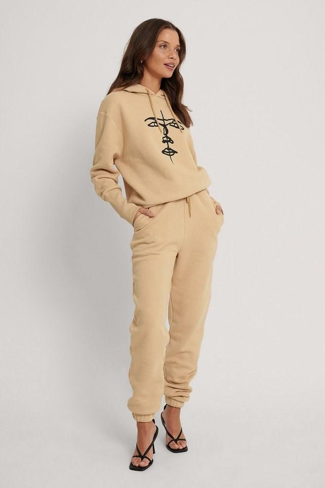 Organic Printed Hoodie Outfit.