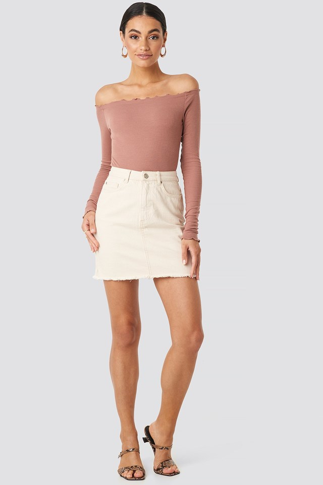 Ribbed Babylock Off Shoulder Body Outfit.