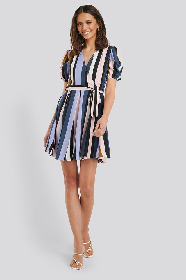 Belted Striped Mini Dress Outfit.
