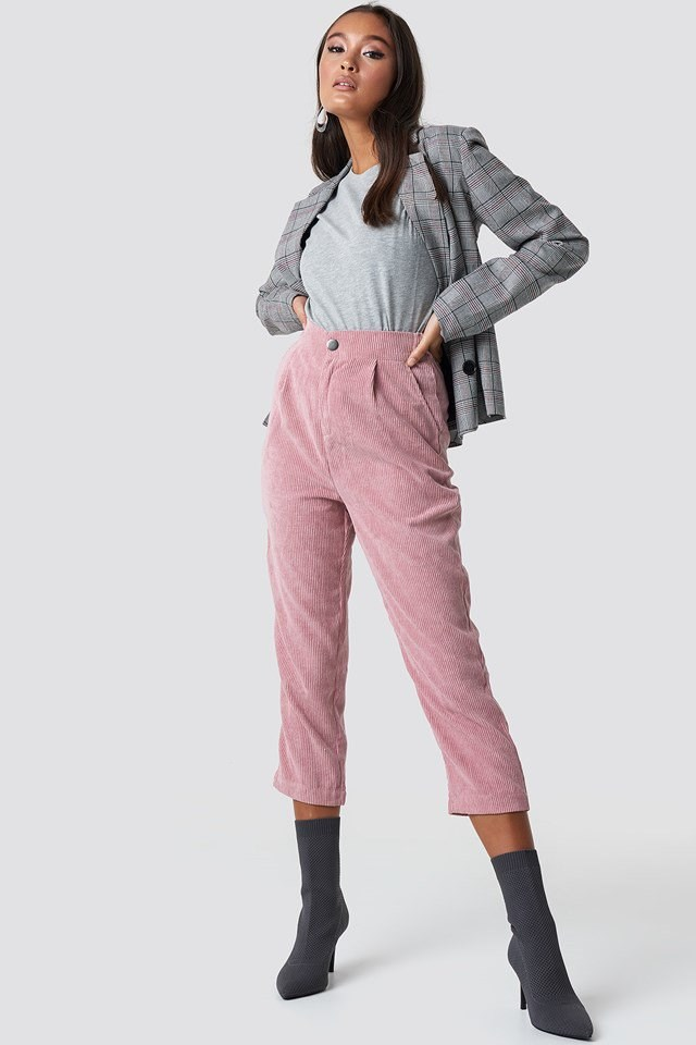 Cortez Cord Pants with Checked Blazer