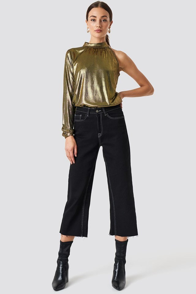 Gold Metallic Party Outfit