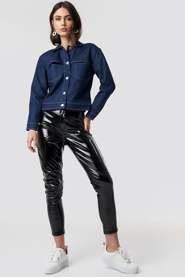 Short Denim Jacket Outfit