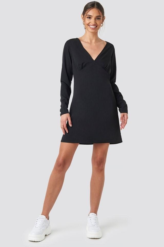 V-Neck Mini Dress Outfit.