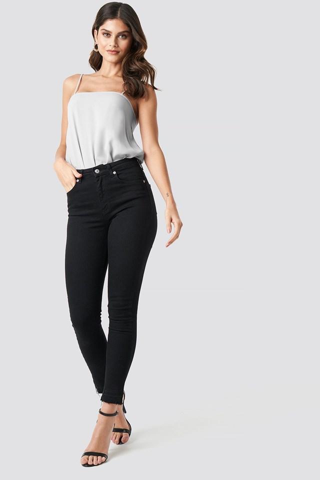Square Neckline Bodysuit Outfit.