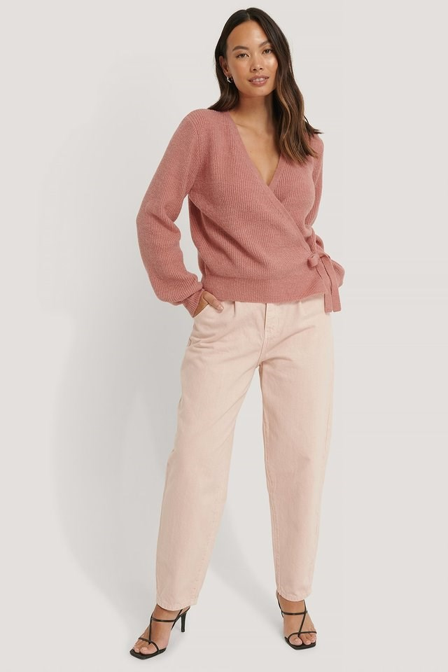 Tie Side Knit Outfit.