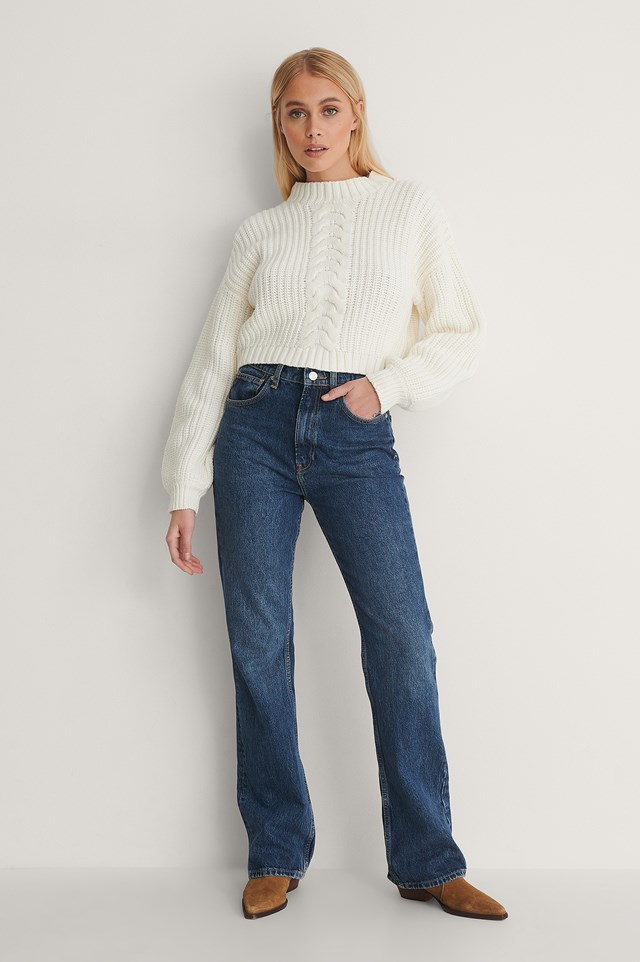 Cable-Detail Shirt Knitted Sweater Outfit!