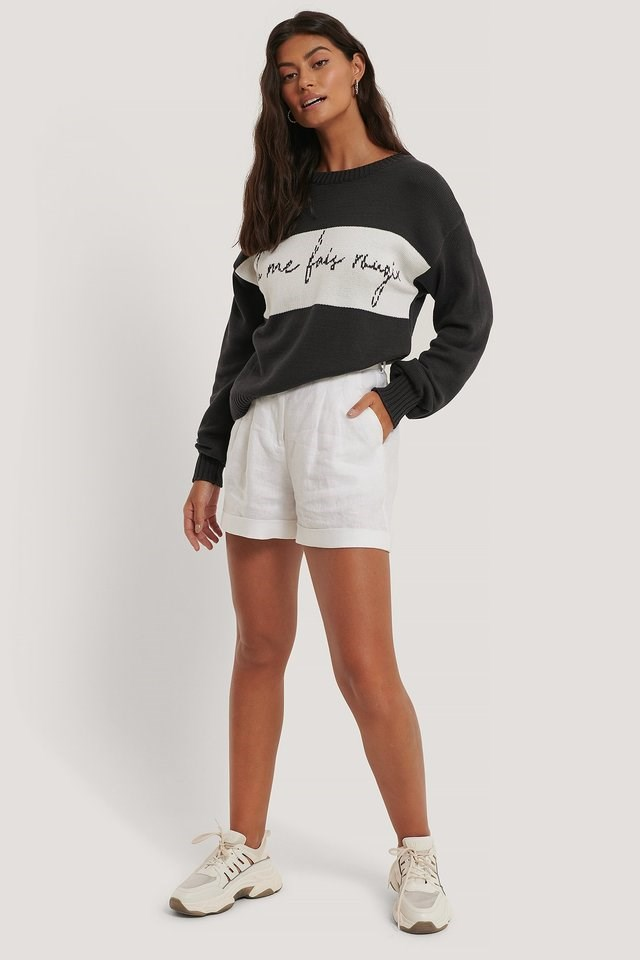Tu Me Knitted Sweater Outfit.