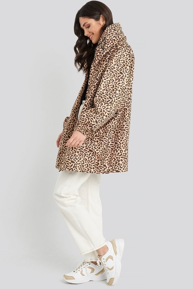 Printed Oversized Parkas Multicolor Outfit.