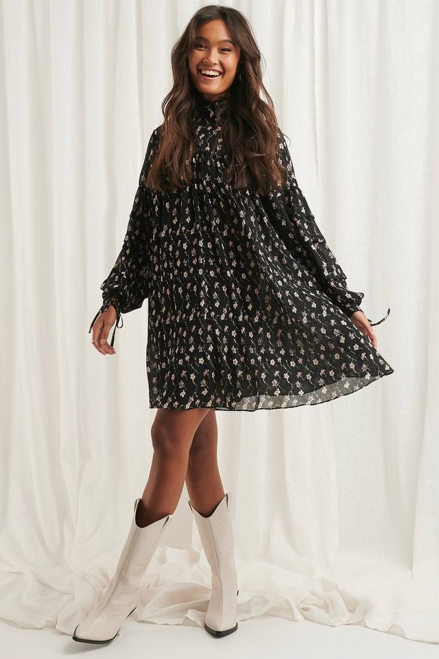 Structured Printed Dress Multicolor.