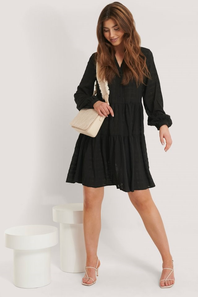 Structure A-Line Dress Black.