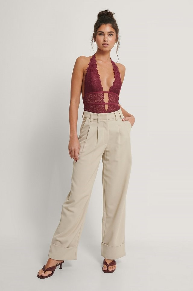 Plunge Lace Bodysui Outfit.