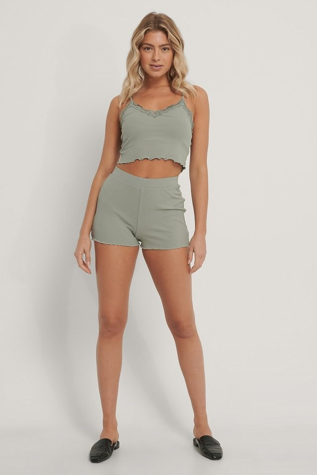 Babylock Lounge Cropped Singlet Outfit.