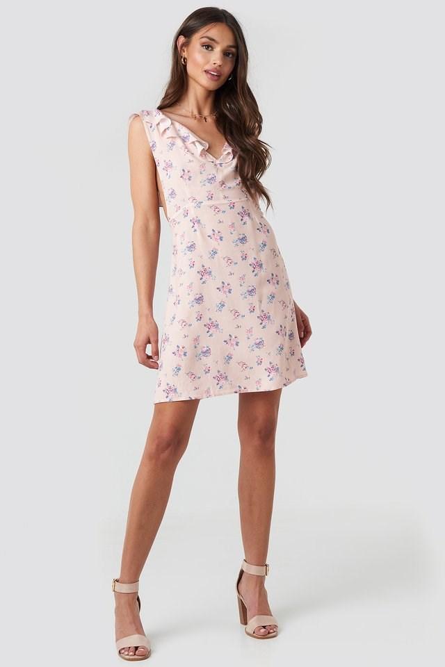 Floral Mini Dress Outfit.