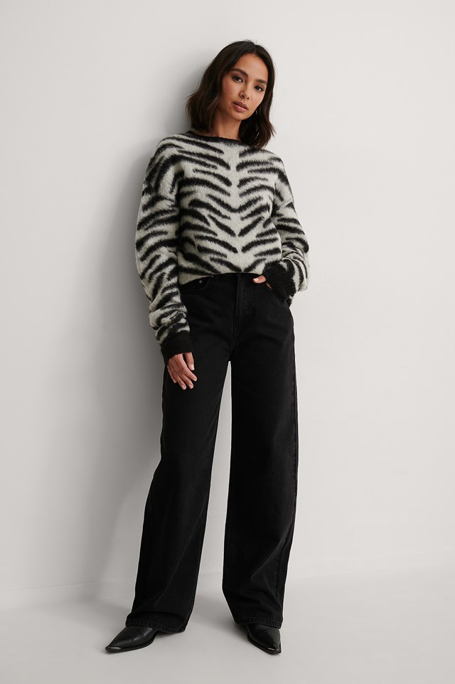 Zebra Knitted Sweater