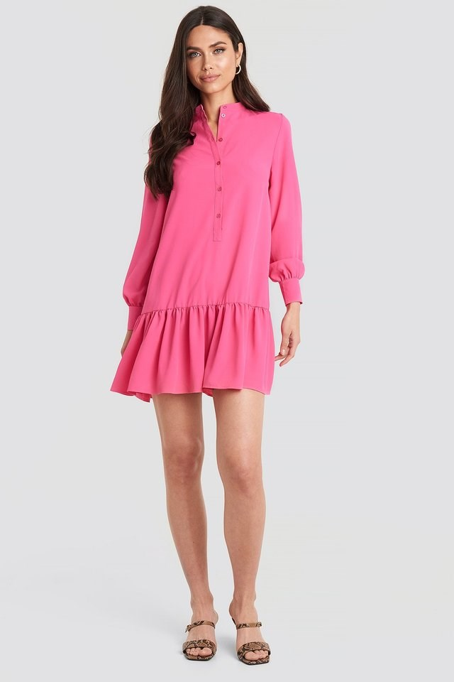 Solid Mini Dress Pink.