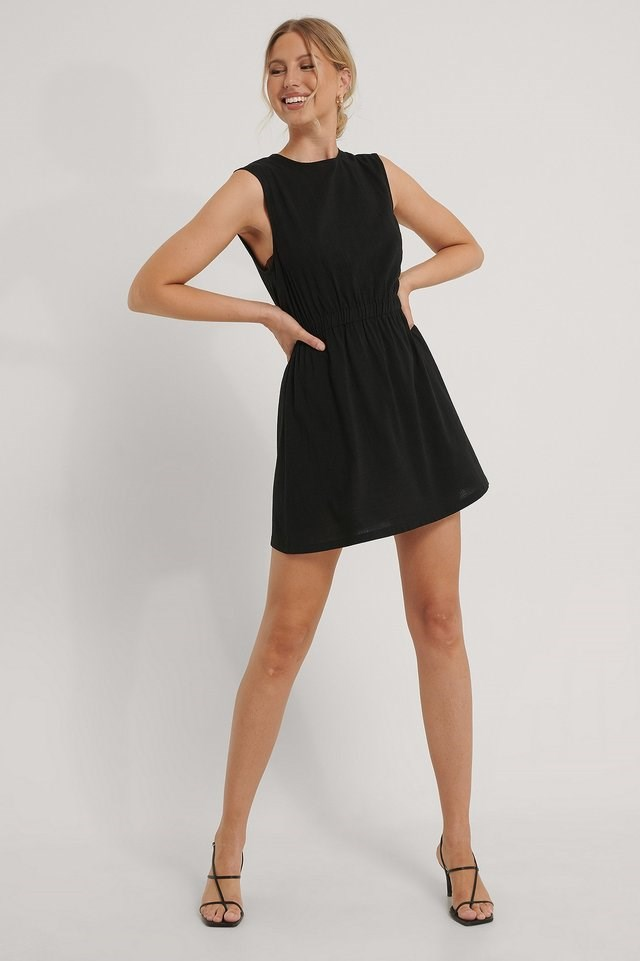 Sleeveless Mini Dress Black.