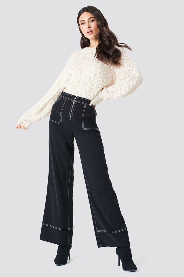 B&W Knit Outfit
