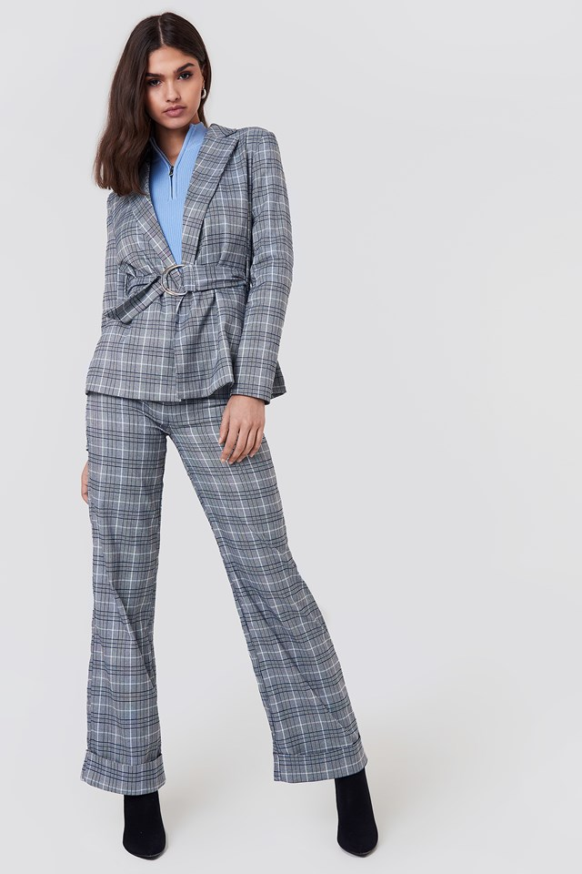 Checkered Suit Outfit