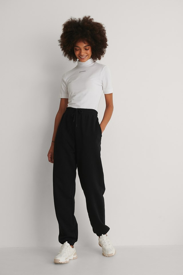 Calvin Micro Branding Stretch Mock Neck Outfit!