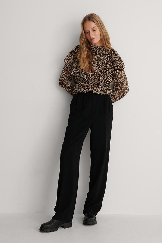 Flounce Blouse Outfit.