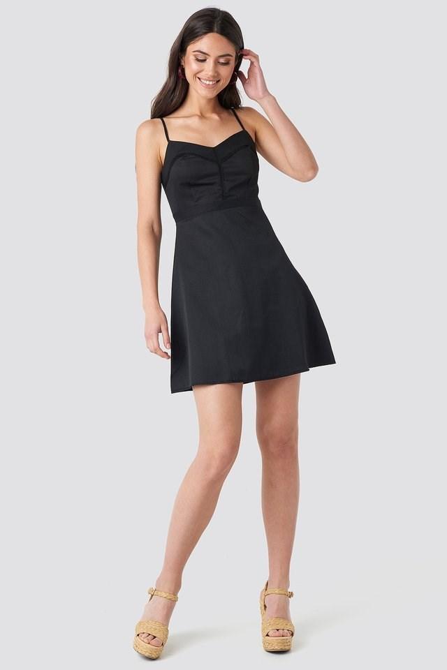 Lace Insert Mini Dress Outfit.