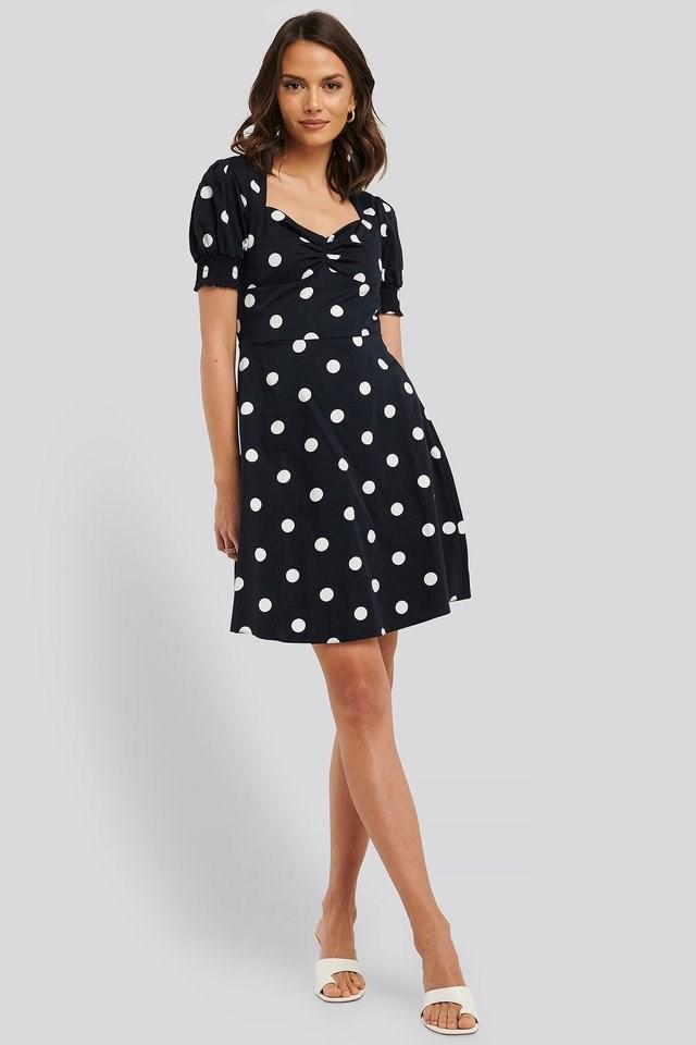 Polka Dot Mini Dress Outfit.
