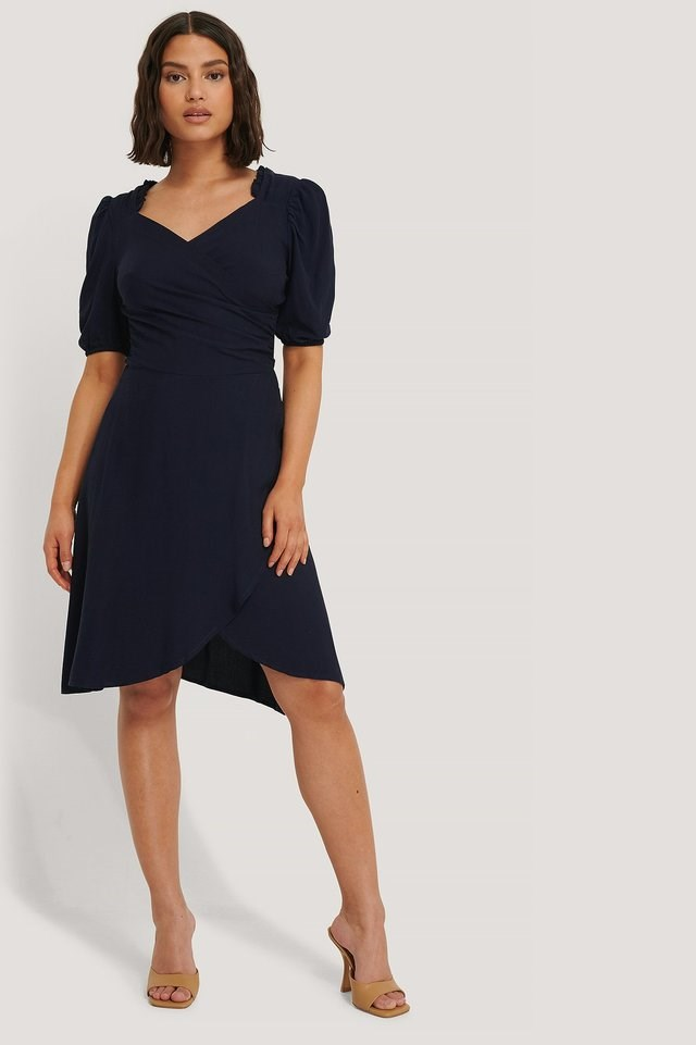 Sam Ruffle Detail Dress Navy.