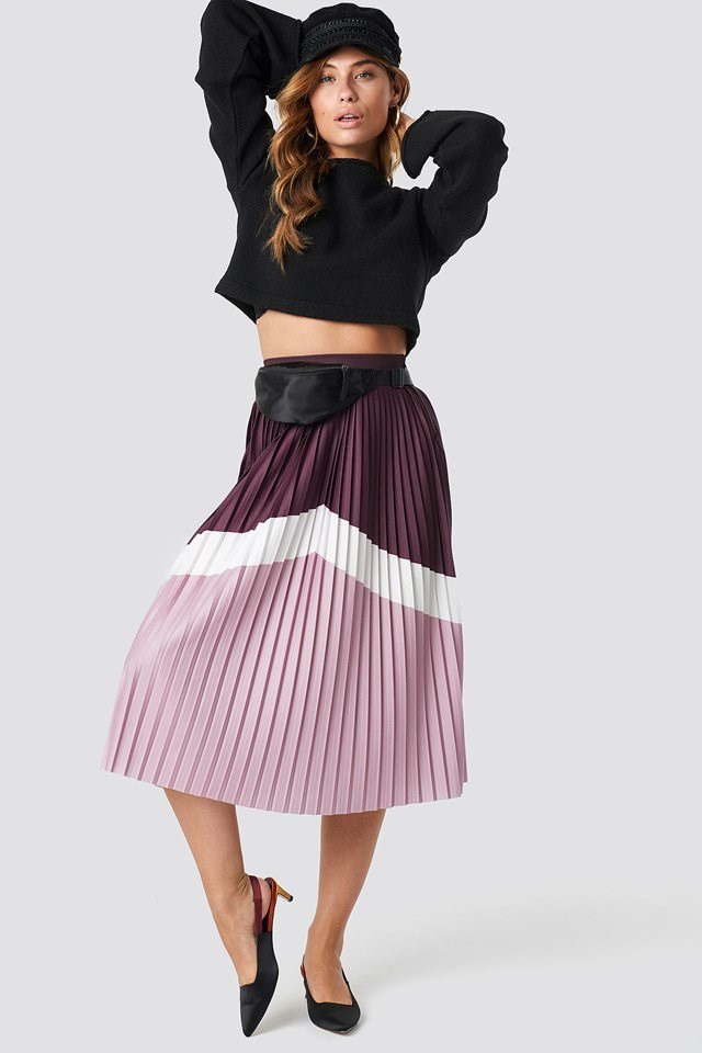 Long Skirt purple