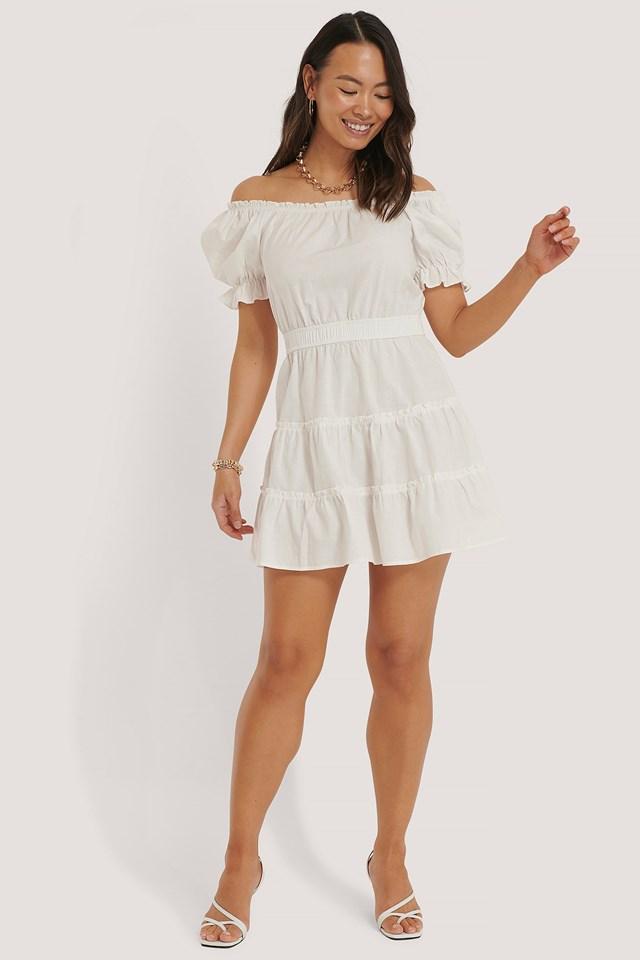 Off Shoulder Mini Dress Outfit.