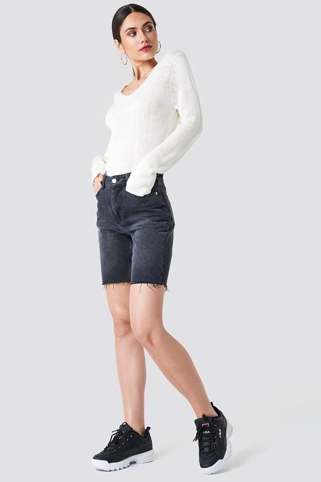 Knit X Midi ShortsOutfit