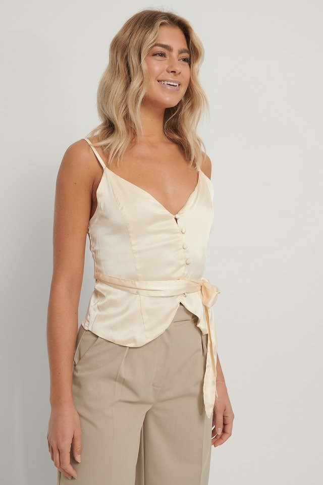 Buttoned Smock Back Singlet Outfit.