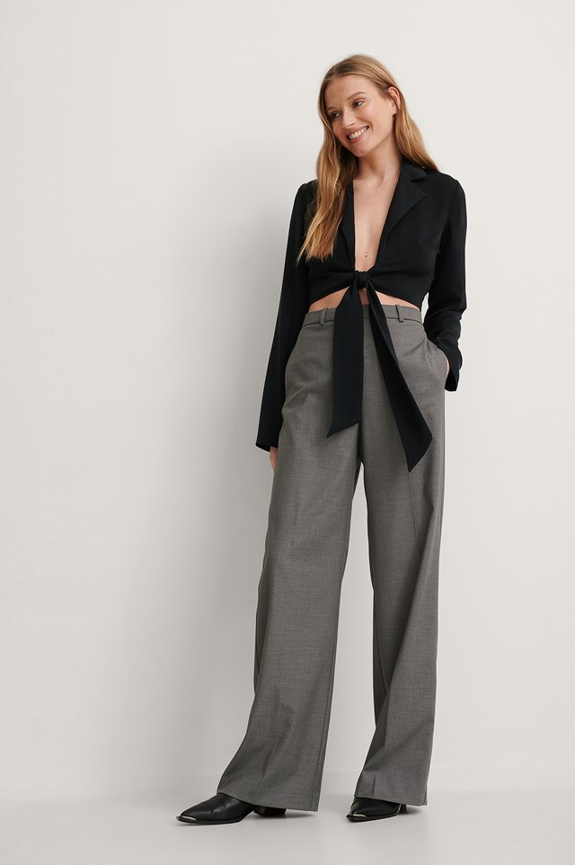 Front Tie Blouse Outfit.