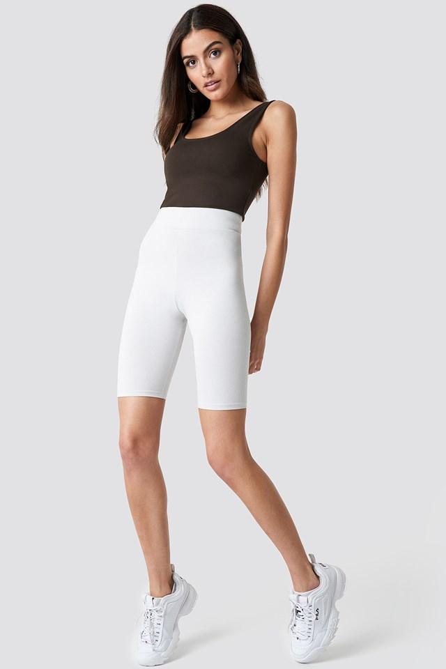 Sporty White Shorts