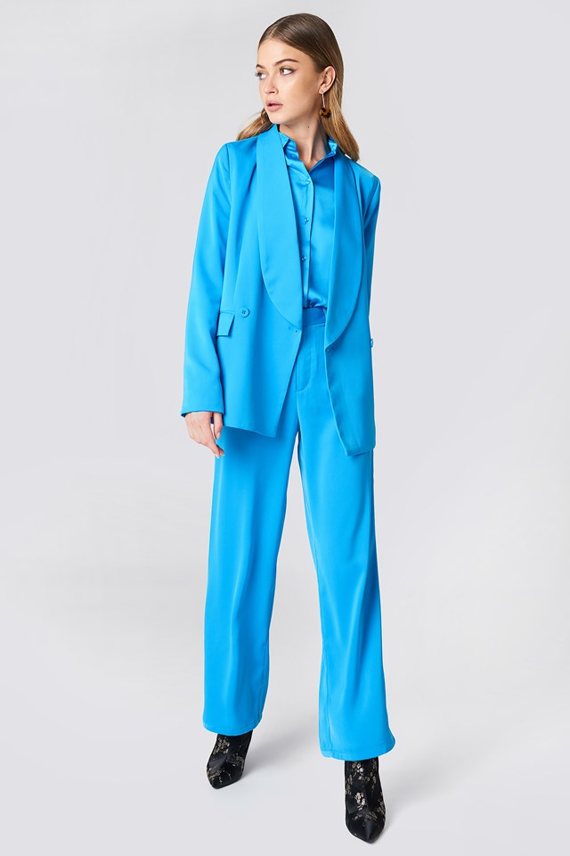 All Blue Suit Outfit