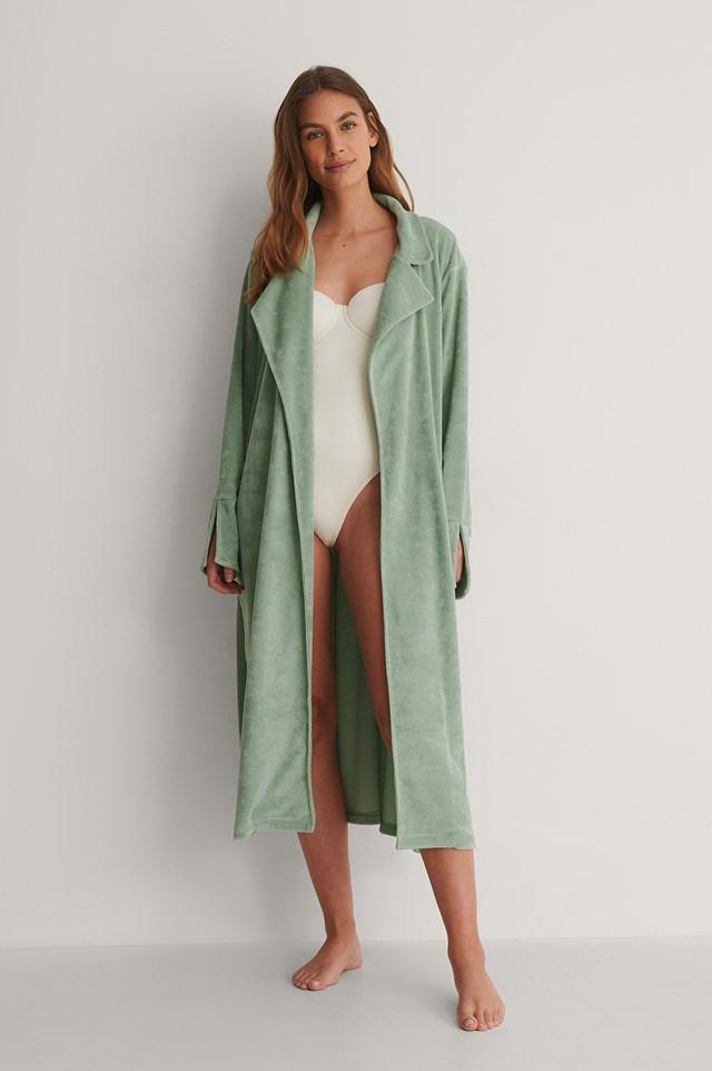 Green Organic Terry Cloth Robe