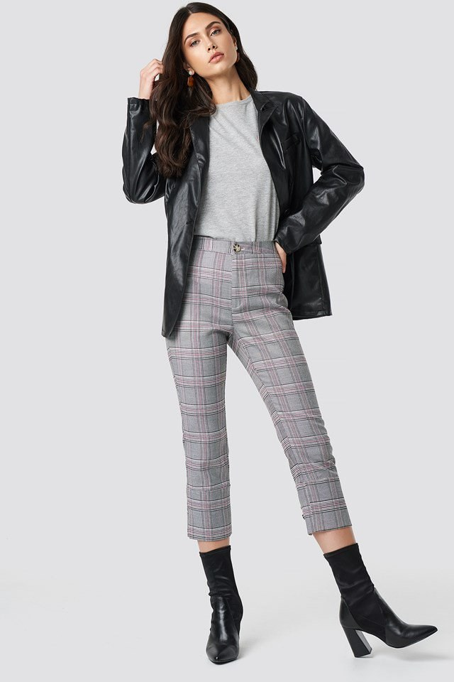 Cropped Suit Pants Outfit