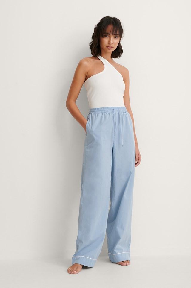 One Shoulder Cut Detail Singlet Outfit.
