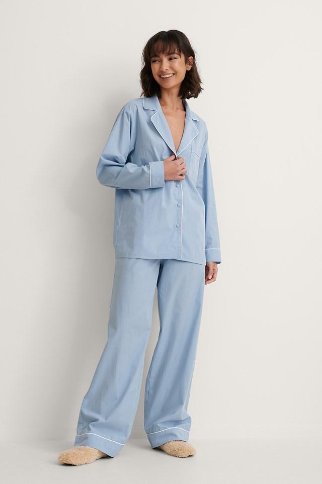 Oversized Pyjamas Shirt Outfit.