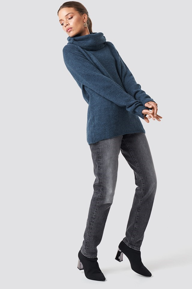 Comfy Knitted Denim Outfit