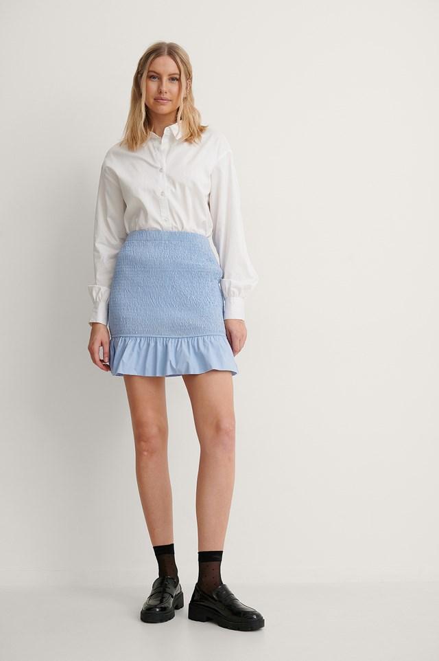 Smocked Mini Skirt