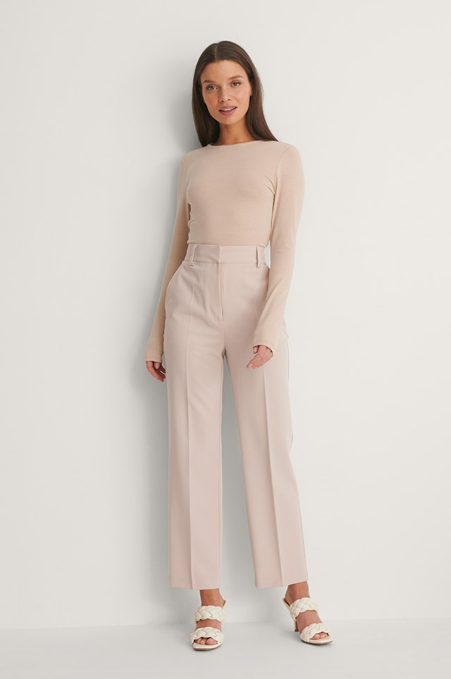 Drawstring Detail Open Back Top Outfit