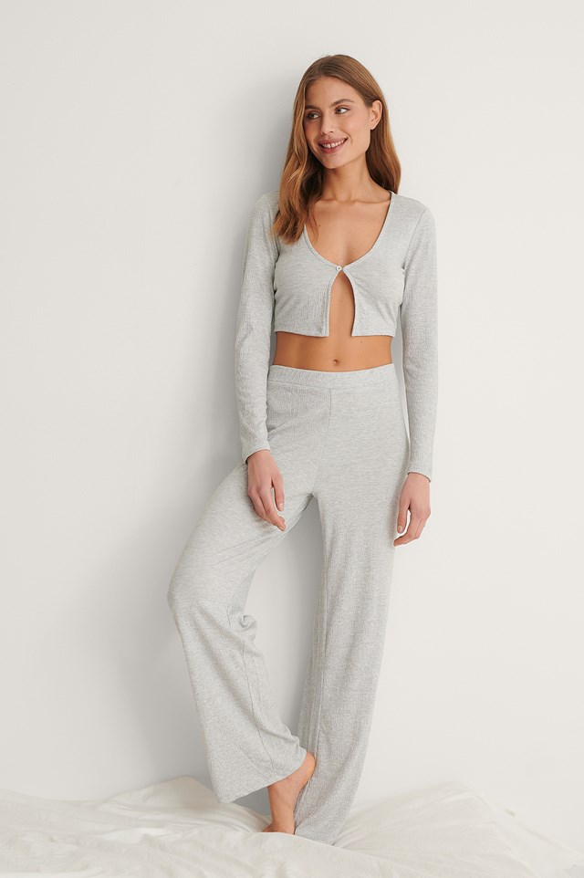 Structured Wide Loungewear Pants