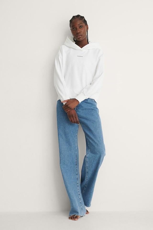 Calvin Klein micro branding hoodie